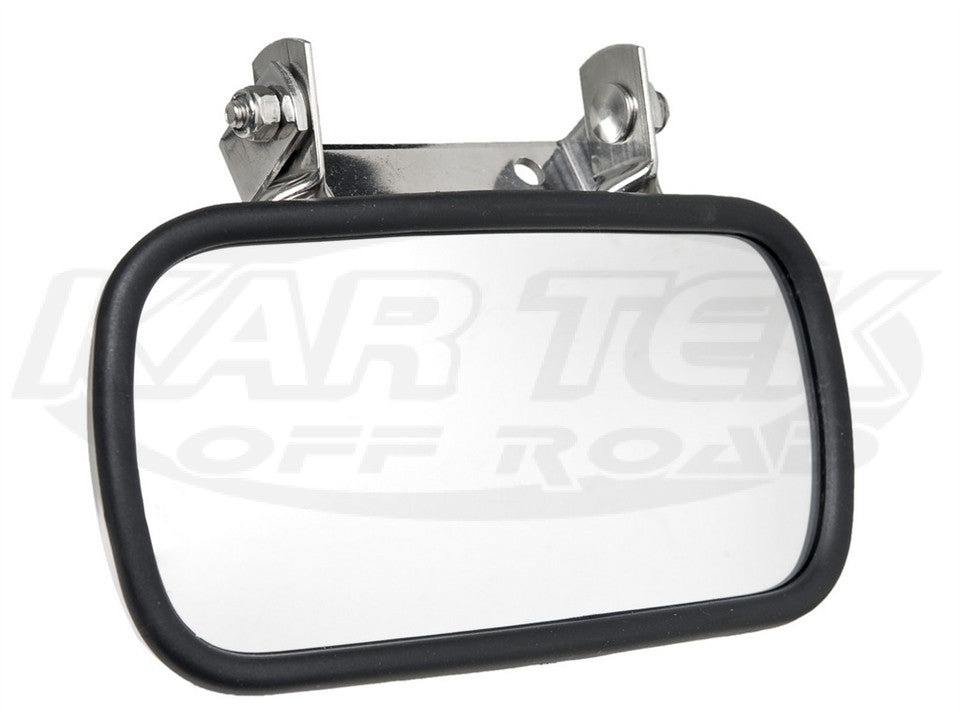 Two Seat Racecar Mirror Convex, Stainless Steel Back