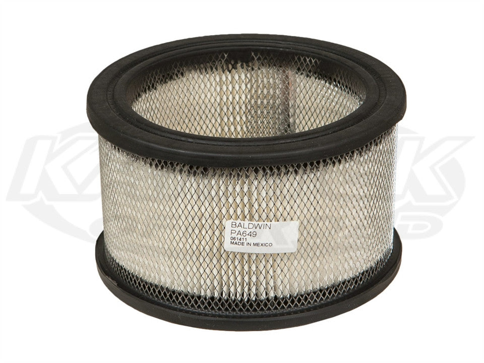 Parker Pumper Replacement Large Air Filter 5-1/4 Outside Diameter 3-3/8 Tall Requires PCI578 Top