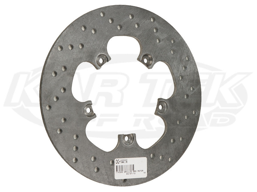 "11"" 5 Bolt Steel Drilled Rotors 5 x 5-1/2"" Bolt, .30"" Width"