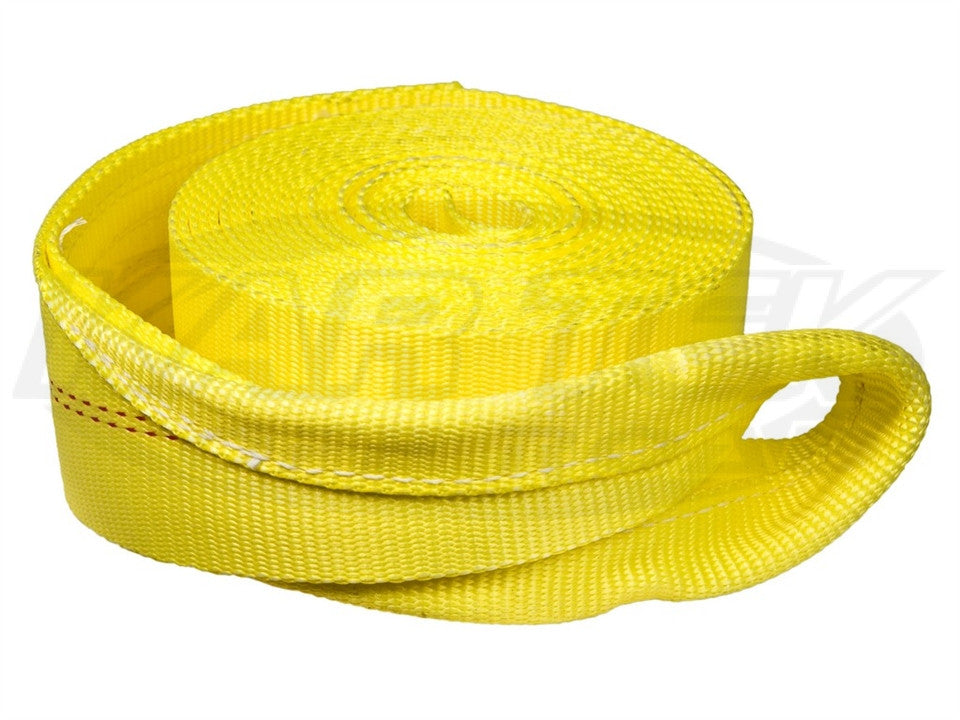 "Boxer 3"" x 30' Yellow Tow Rope w/ Reinforced Loops 30ft. Yellow"