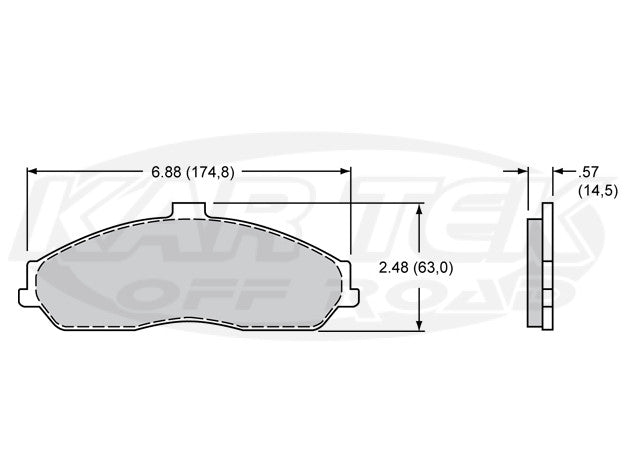 Wilwood D731 Brake Pads PolyMatrix E