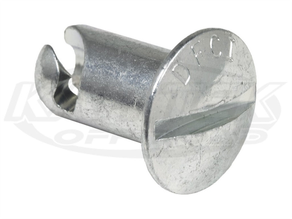 Quarter Turn Fastener Domed Steel Button 0.650 Length For #6 Spring