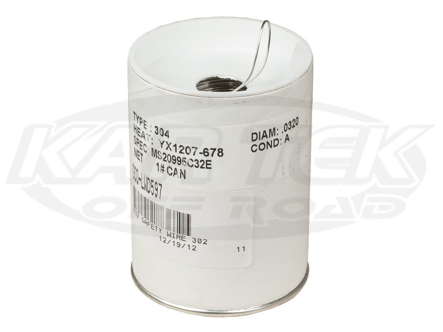 "Safety Wire 0.032"" Diameter Stainless Steel 1 Pound Spool"