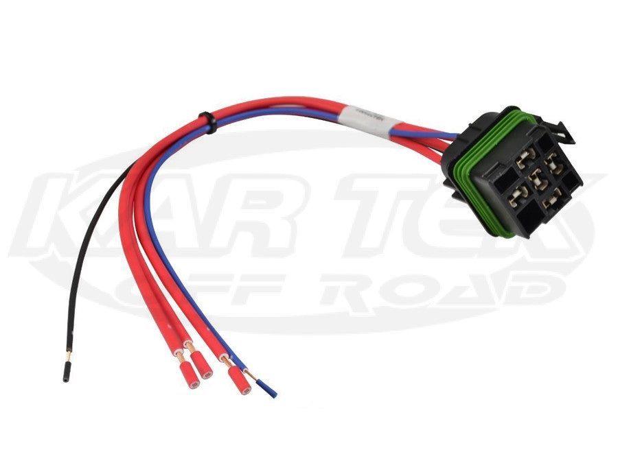 "Hella ISO Weatherproof Mini Relay Connector w/ 12"" Leads Pigtail for 5 Pin weatherproof mini relays"