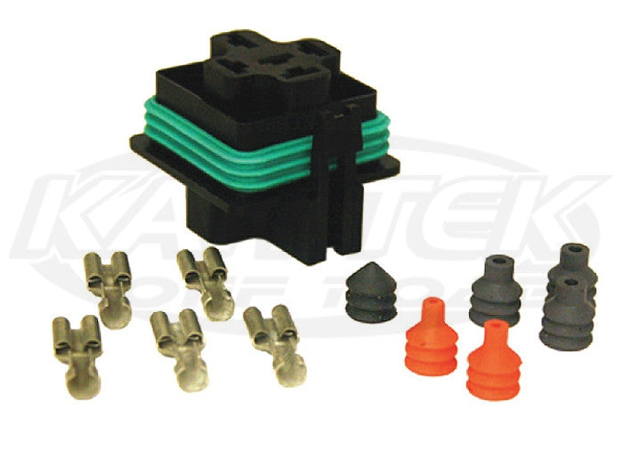 Hella Weatherproof Mini Relay Connector Kit Kit for 5 Pin weatherproof mini relays
