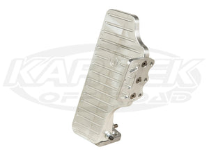 Jamar Performance Solid Machine Finish Billet Aluminum Throttle Pedal With Side Foot Rest
