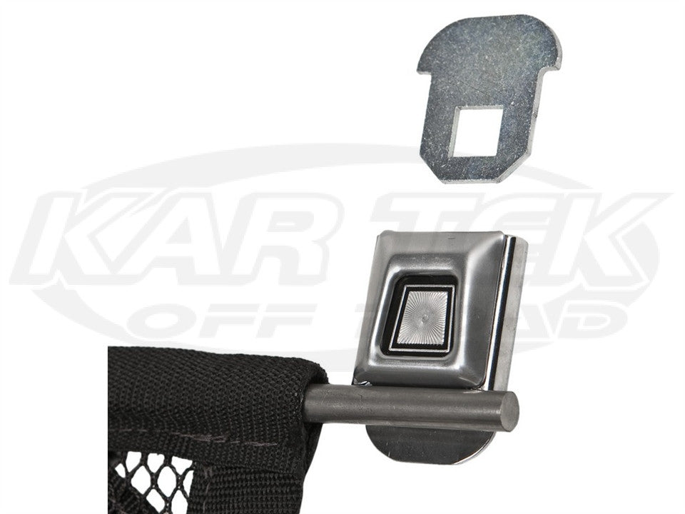 "Jaz Products Deluxe Push Button Seat Belt Style Latch Window Net Mounting Kit 28"" Rod Length"