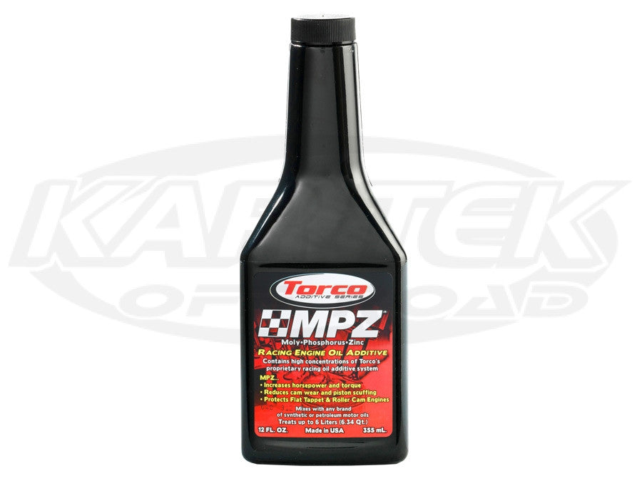 Torco MPZ Magnetic Friction Reducer Racing Engine Oil Additive 12 Ounce  Bottle