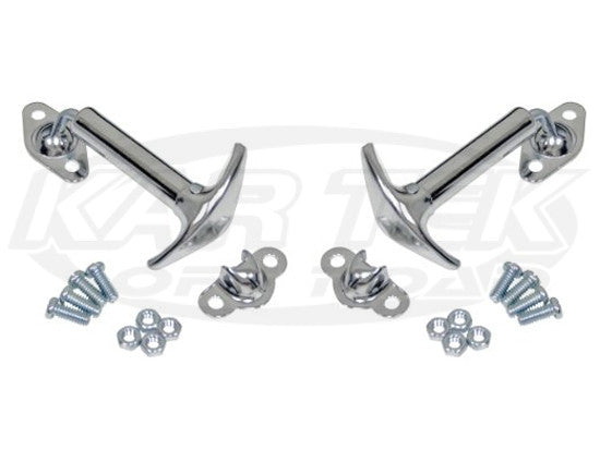 Chrome Hood Latch Kit Pair