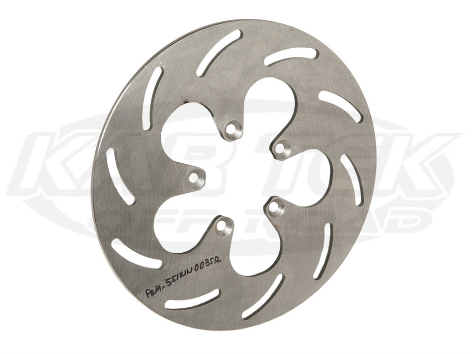 "10"" Slotted Steel Rotors 5 x 3"" Bolt, .21"" W, Left"