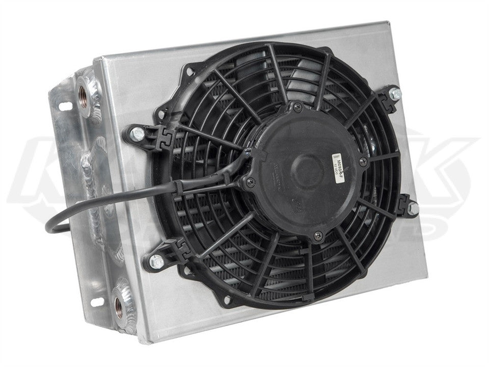 "CBR Small Off-Road Oil Cooler Single Pass, 9"" SPAL Fan"