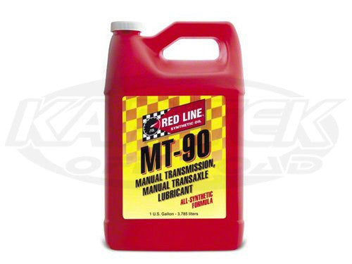 Red Line Synthetic MT-90 75W90 GL-4 Gear Oil 75W-90, 1 Quart Bottle
