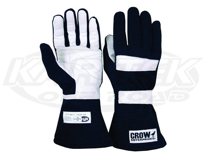 Crow Standard Black Driving Gloves Extra Small