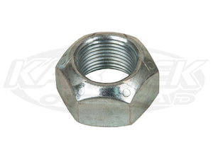 Grade 8 Fine Thread 5/8-18 Stover Lock Nut Silver Zinc Plated