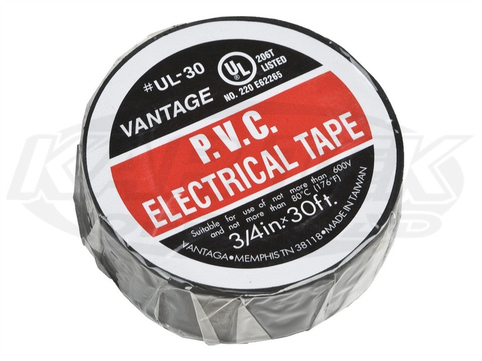 "Standard Black Electrical Tape 3/4"" Wide 60 Foot Roll"