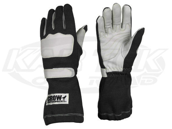 Crow Wing Black Driving Gloves Large