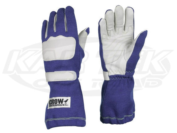 Crow Wing Blue Driving Gloves Large