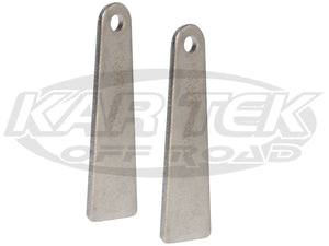 "Steel Weld On Mounting Tabs For Rear View Mirrors 3"" Long From Edge To Center 1/4"" Bolt Hole - Pair"