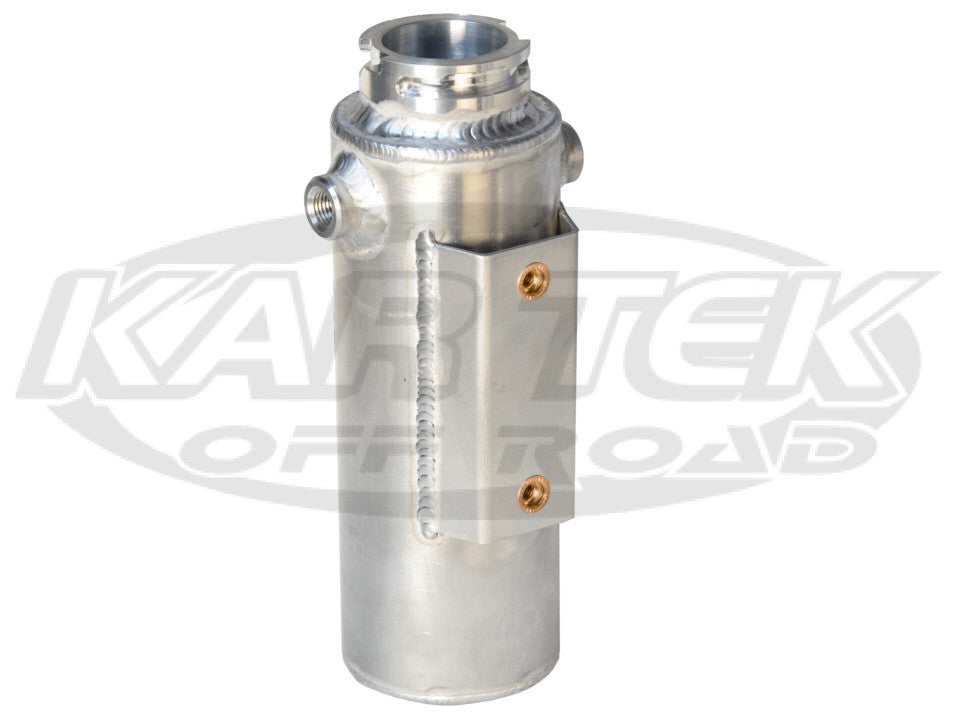 "CBR Performance Products Satin Finish Aluminum 1 Quart Radiator Surge Tank 3"" Diameter 9"" Tall"