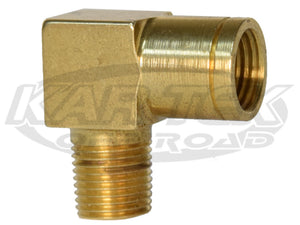 "CNC 1/8"" NPT Male to Female 10mm-1.0 Metric Thread Brake Line 90 Degree Adapter Fittings"