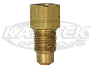"CNC 3/8""-24 Thread Male to Female 3/16"" Inverted Flare American Brake Line Straight Adapter Fitting"