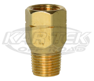 "CNC 1/8"" NPT Male to Female 10mm-1.0 Metric Thread Brake Line Straight Adapter Fittings"