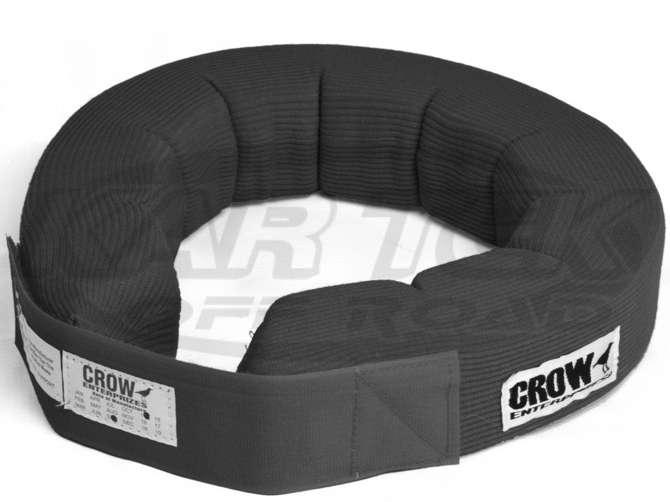 Crow Enterprizes Adult Black 360 Degree Knitted Helmet Support Neck Collar SFI-3.3 Rated