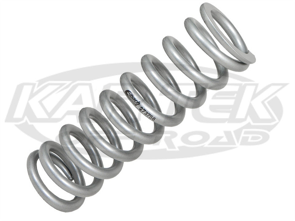 "Silver Eibach 325 Pound 12"" Tall Spring For 2.5"" Diameter King, Sway-A-Way Or Fox Coil Over Shocks"