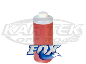Fox 7W Red Extreme Shock Absorber Oil For Factory Series Or Performance Series Shocks 1 Quart Bottle