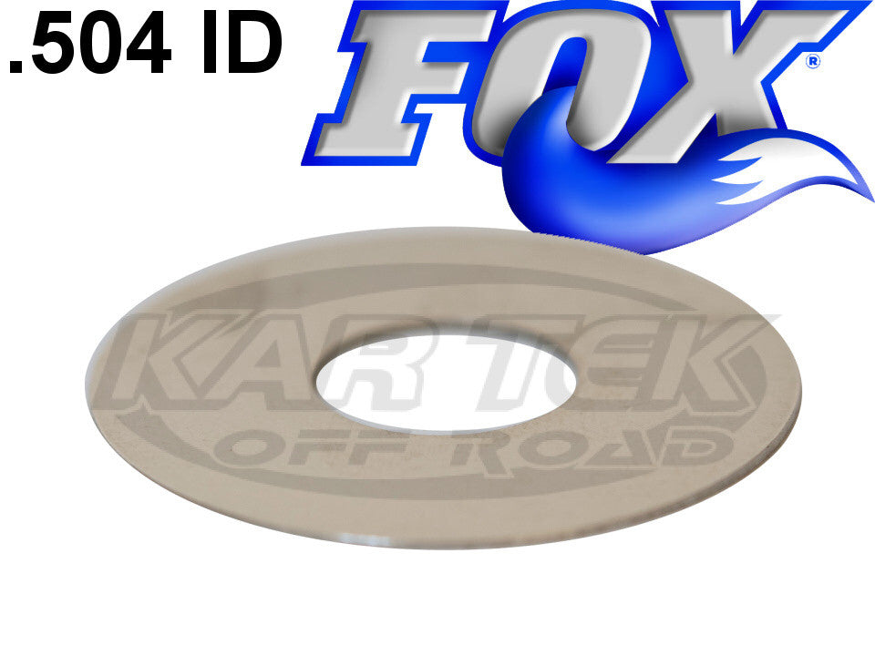 "Fox Shocks Rebound Or Compression Valving Shims 0.010"" Thick 2.000"" Outside Diameter 0.504"" ID"