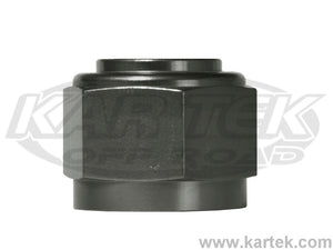 "Fragola AN -3 Fitting 3/8""-24 Thread Black Anodized Aluminum Female Pressure Caps"