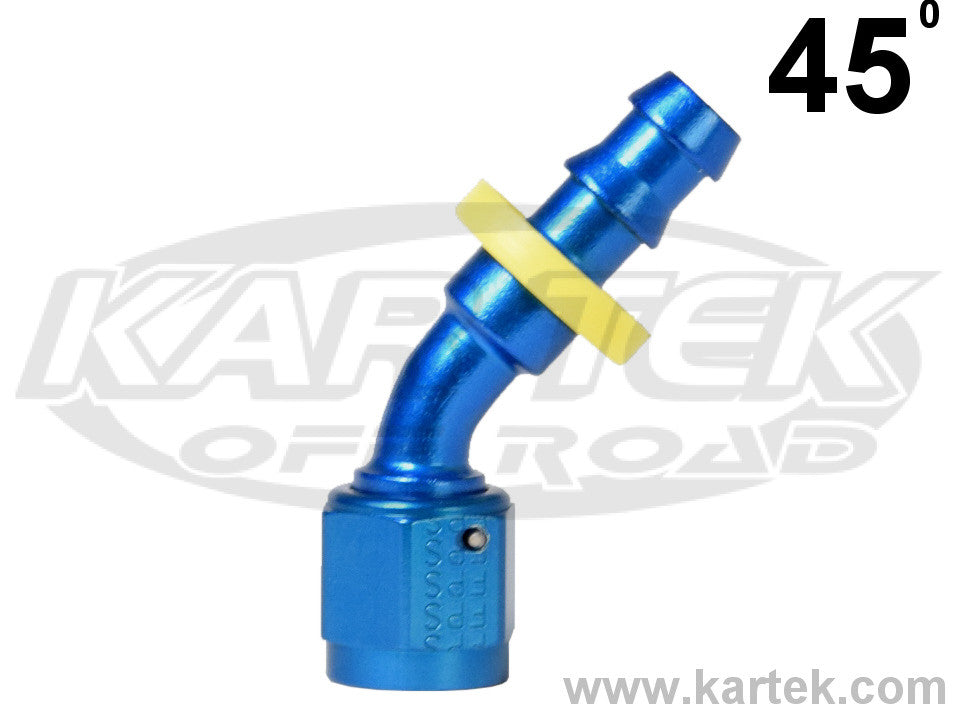 """4 AN FITTING to 1//8/"""" Pipe Thread 45 Deg AN FITTINGS Blue Anodized Aluminum"""