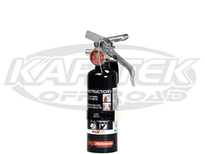 H3R Performance 1 Lbs Black Fire Extinguisher Regular Dry Chemical Extinguisher Class B:C