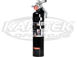 H3R Performance 2.5 Lbs Black Fire Extinguisher Regular Dry Chemical Extinguisher Class A:B:C