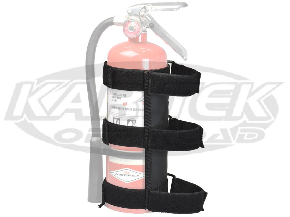 Kartek Off-Road 2 Pound Up To 5 Pound Fire Extinguisher Velcro Mount For Roll Cage Tubing Up To 2""