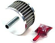 "1-3/8"" Dia. Rubber Base Breather w/ Chrome Top 8mm Inlet, 1-3/8"" Dia., 1-1/8"" Tall"