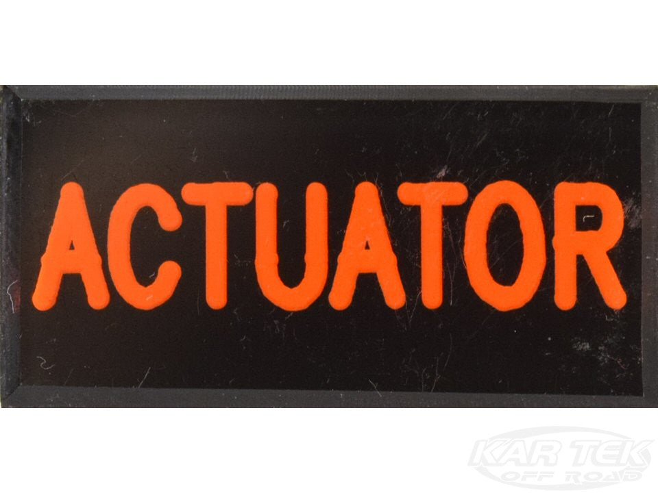 ACTUATOR Dash Badge Self Adhesive ID Label For Your Indicator Lights Or Switches