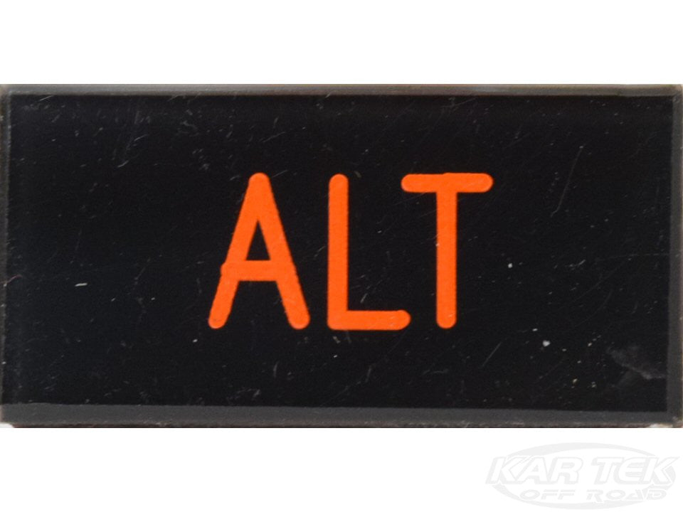 ALT Dash Badge Self Adhesive ID Label For Your Indicator Lights Or Switches