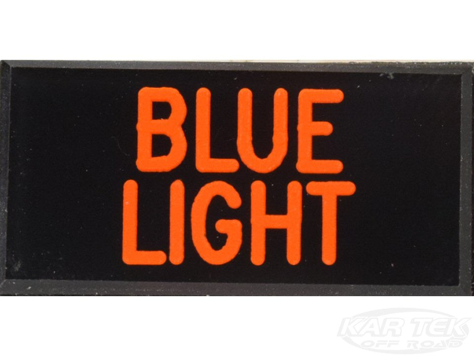 BLUE LIGHT Dash Badge Self Adhesive ID Label For Your Indicator Lights Or Switches