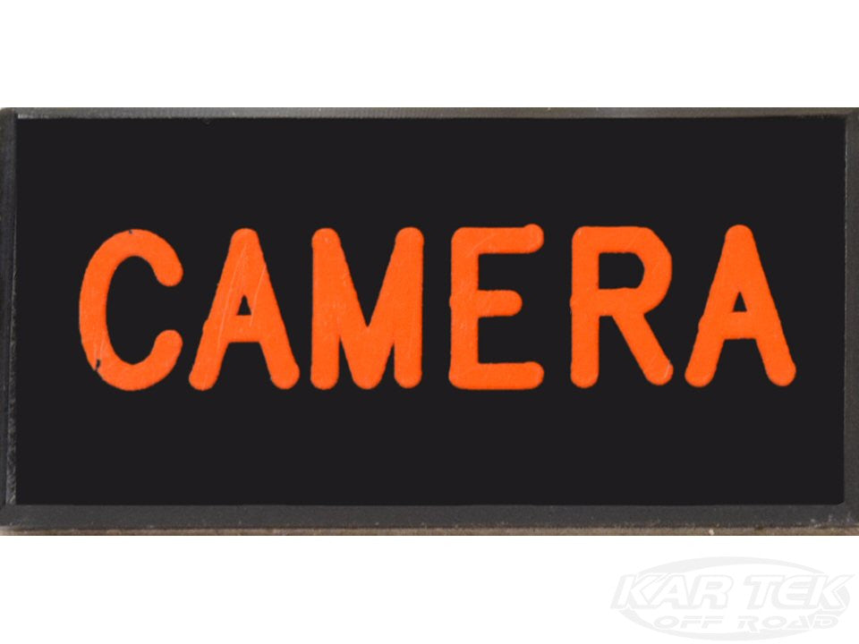 CAMERA Dash Badge Self Adhesive ID Label For Your Indicator Lights Or Switches