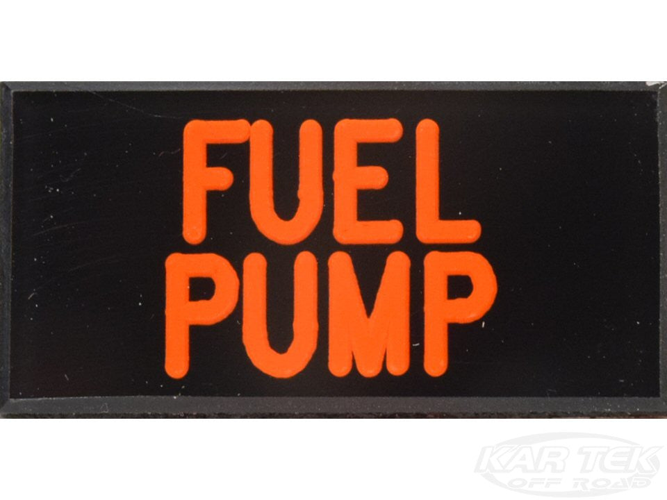 FUEL PUMP Dash Badge Self Adhesive ID Label For Your Indicator Lights Or Switches