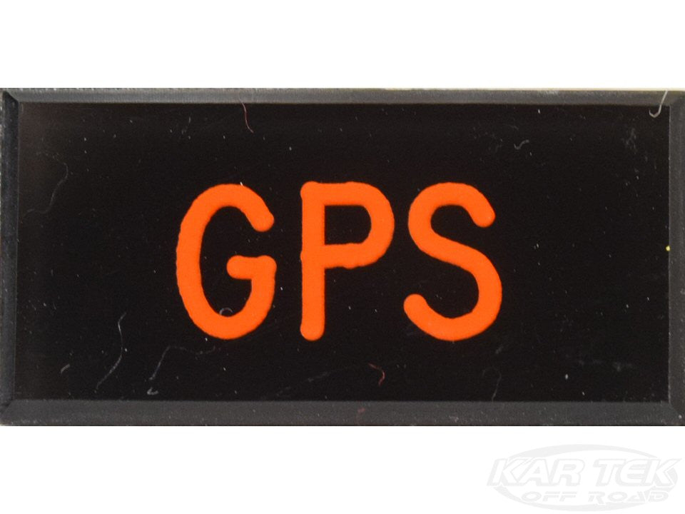 GPS Dash Badge Self Adhesive ID Label For Your Indicator Lights Or Switches