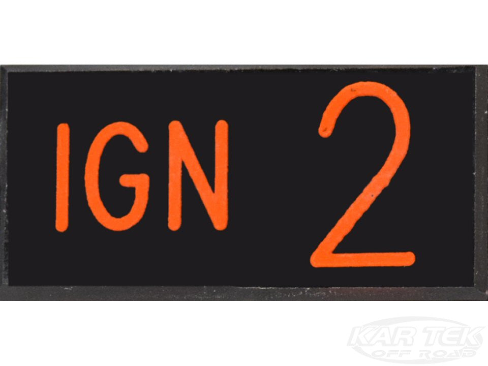 IGN 2 Dash Badge Self Adhesive ID Label For Your Indicator Lights Or Switches