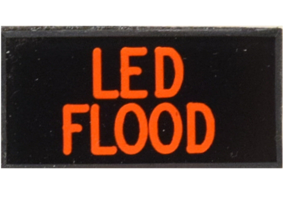LED FLOOD Lights Dash Badge Self Adhesive ID Label For Your Indicator Lights Or Switches