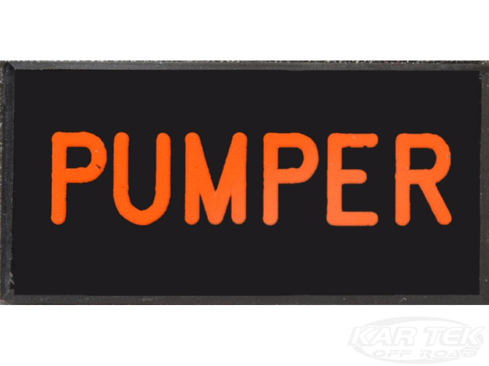 PUMPER Dash Badge Self Adhesive ID Label For Your Indicator Lights Or Switches