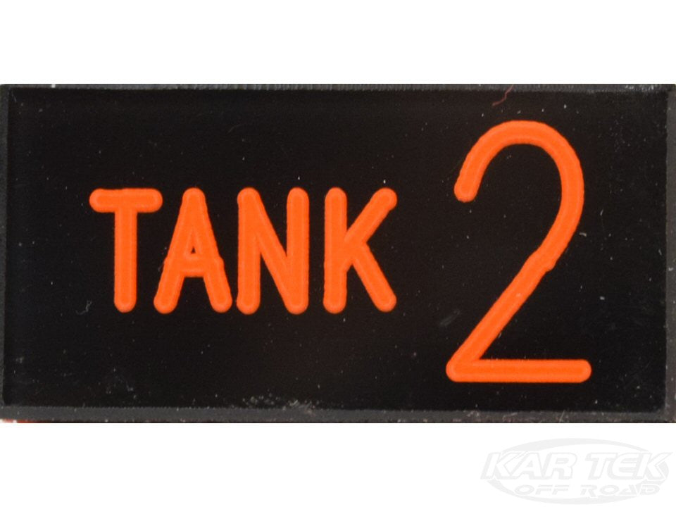 TANK 2 Dash Badge Self Adhesive ID Label For Your Indicator Lights Or Switches