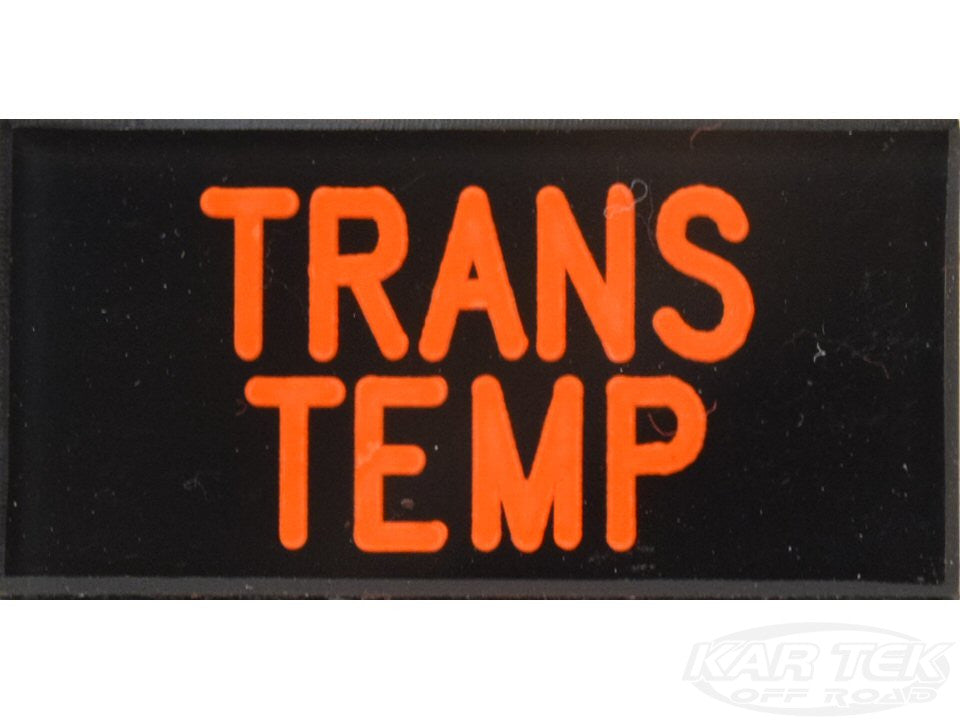 TRANS TEMP Dash Badge Self Adhesive ID Label For Your Indicator Lights Or Switches