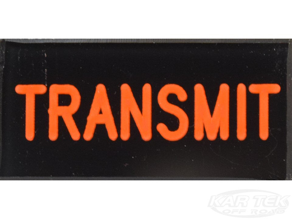 TRANSMIT Dash Badge Self Adhesive ID Label For Your Indicator Lights Or Switches