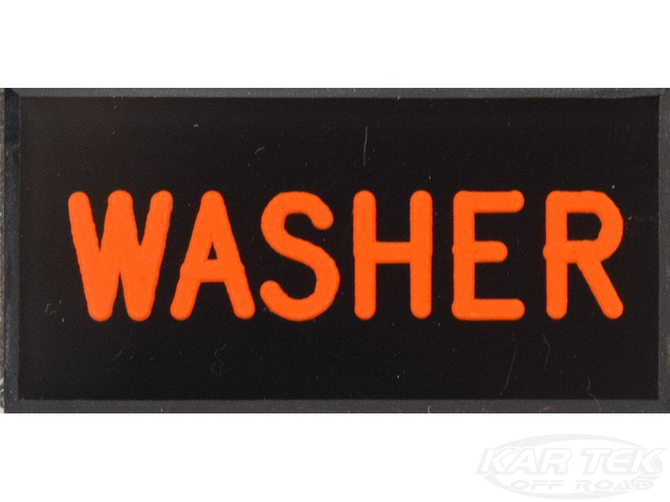 WASHER Dash Badge Self Adhesive ID Label For Your Indicator Lights Or Switches