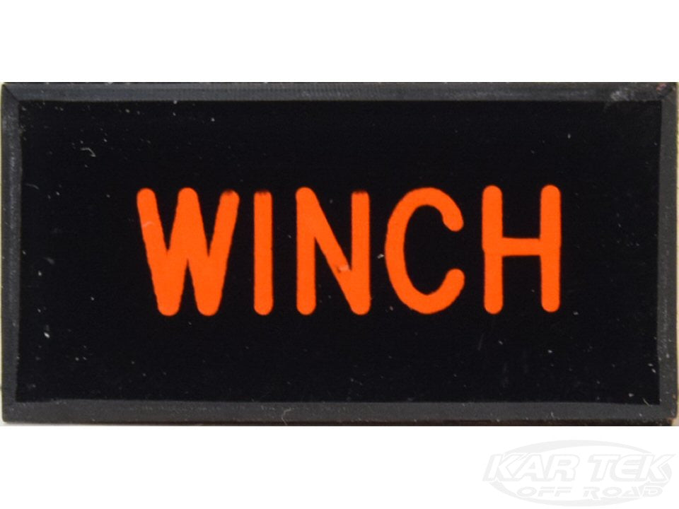 WINCH Dash Badge Self Adhesive ID Label For Your Indicator Lights Or Switches